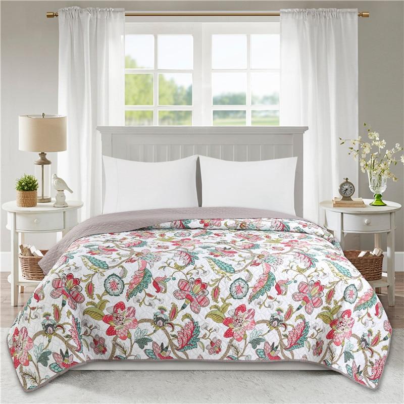 NEW 1PCS loverly floral printed elegant European quited cubrecam coverlet bedspread quilt summer Duvet