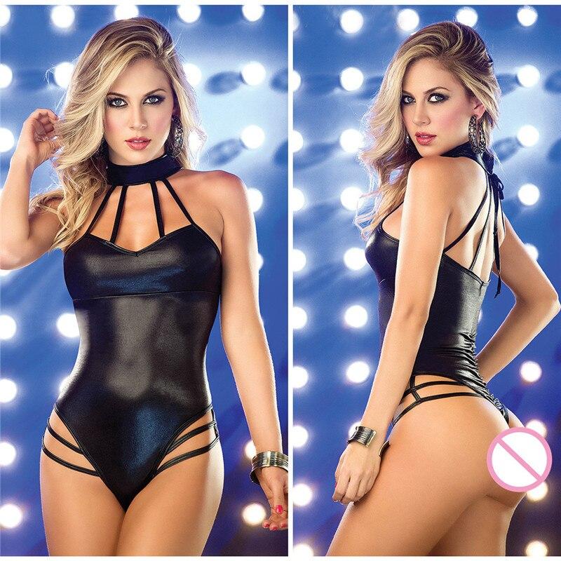 Porno Sex Unterwäsche Frauen Erotische heißen Dessous teddy Sexy Leder Latex Baby puppe Pole Dance Club body sexy Babydoll Kostüme