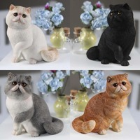 Mnotht Real Animal Series No.8 1/6TH Scale Exotic Shorthair Cat (Garfield) Statue 4 Colors Collections For 12in Action Figures