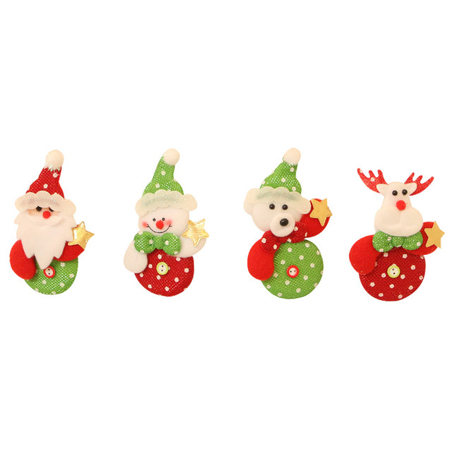 New Arrival Small Christmas Ornaments Gift Snowman Reindeer Toy Doll Hang Decorations