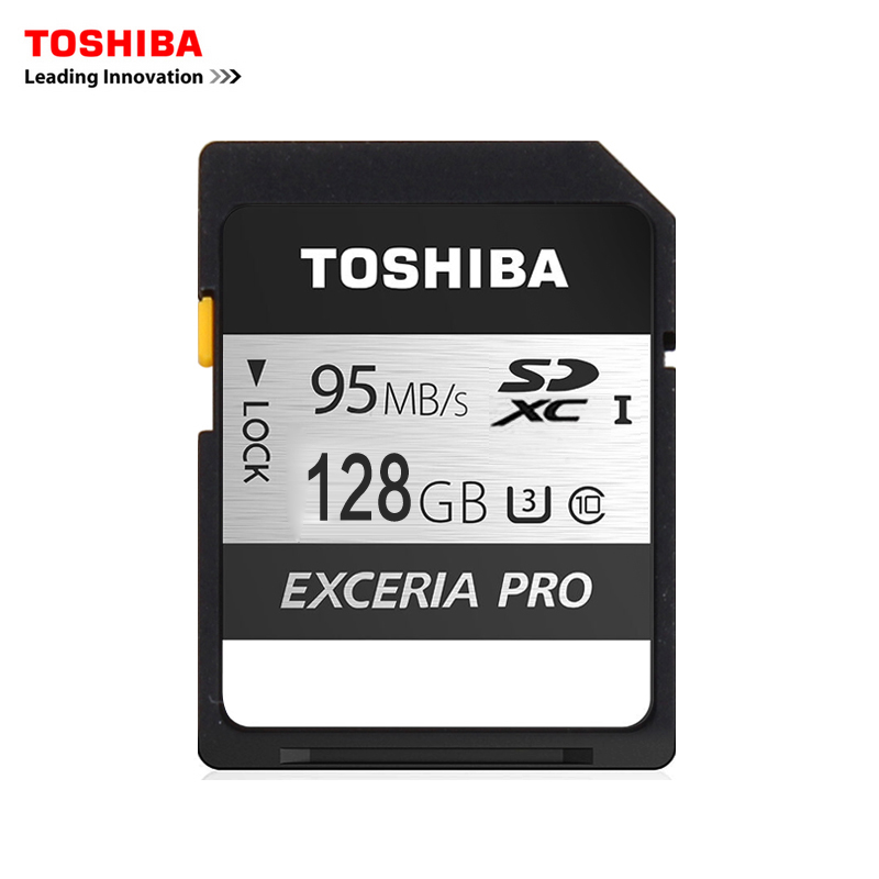 Toshiba Memory Card UHS U3 128GB 95MB/s SDXC SD cards 4K Card SDXC Flash memory EXCERIA PRO Digital SLR Camera Camcorder DV