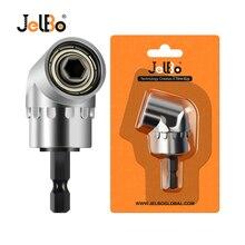 JelBo серебро/черный 105 градусов угловая дрель держатель для бит гнездо адаптер регулируемые биты насадки прямоугольный Магнитный шуруповерт