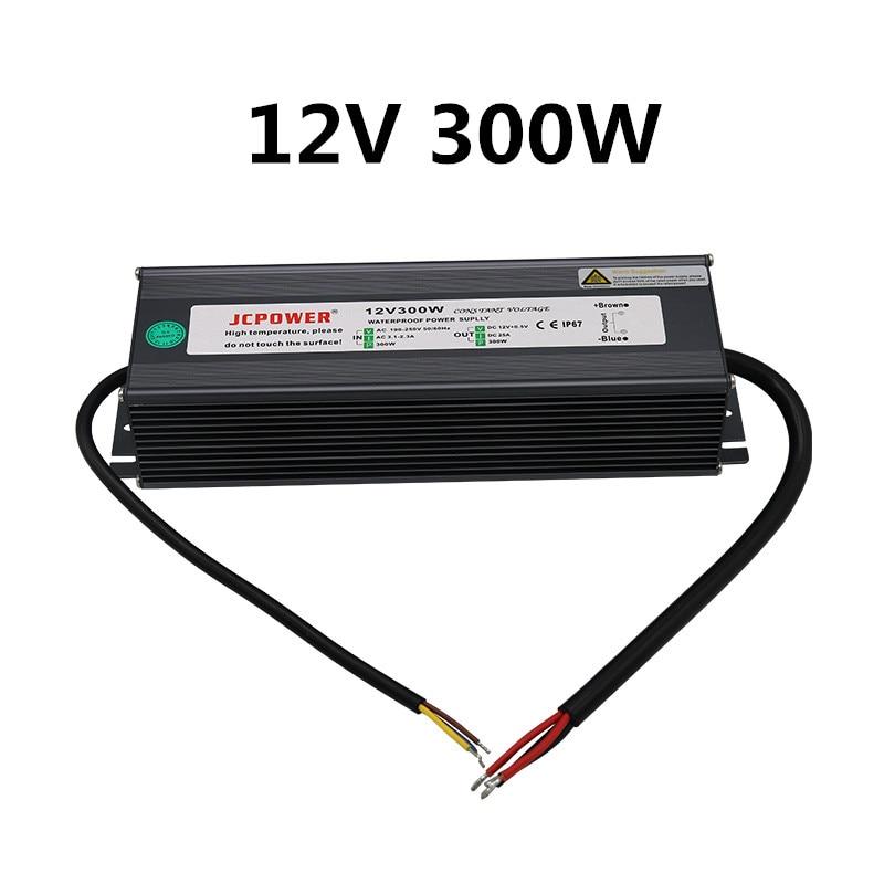 LED IP67 étanche alimentation AC110-220V à 200W 250W 300W haute puissance extérieure bande lumières moniteur équipement transformateur