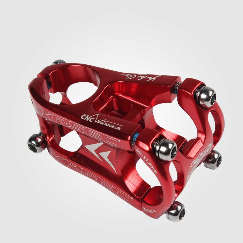 KRSEC Aluminium Alloy Handlebar Stem 31.8*28.6*50 MTB Mountain Bike Cycling