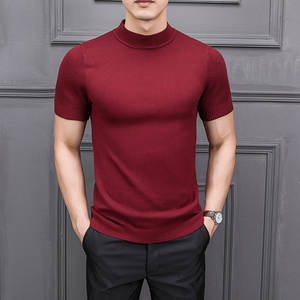 MRMT Men's Sweater Semi-High-Collar Knitting Half-Sleeved Brand-New Male Autumn for Tops