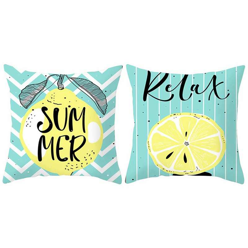 Dos desenhos animados de Frutas Tropicais Melancia Abacaxi lemon Travesseiro Tampa Da Cadeira Capas de Almofada Verão Sofá de Casa Decoração Fronha