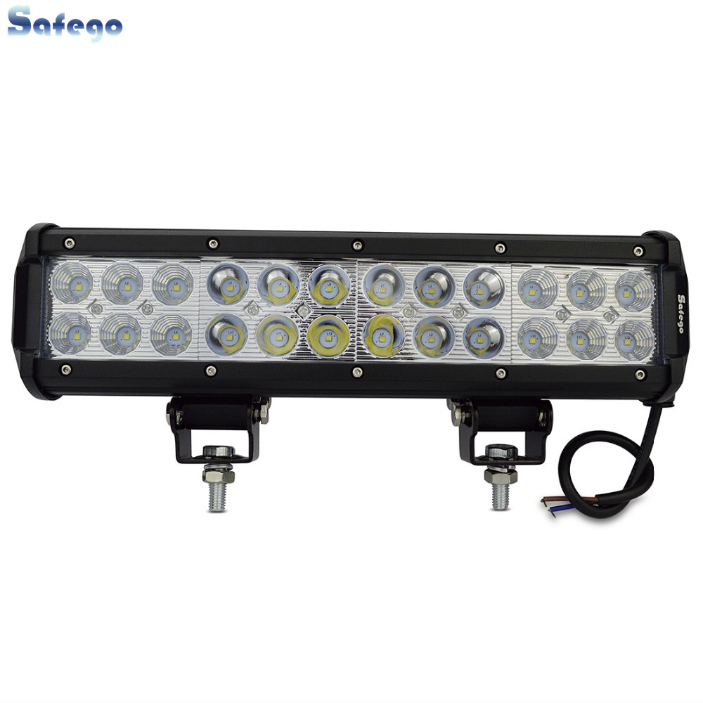 led light bar 72w  Flood Spot beam 72W LED Work Light Bar For Mine Boats Trucks IP67 Working lights