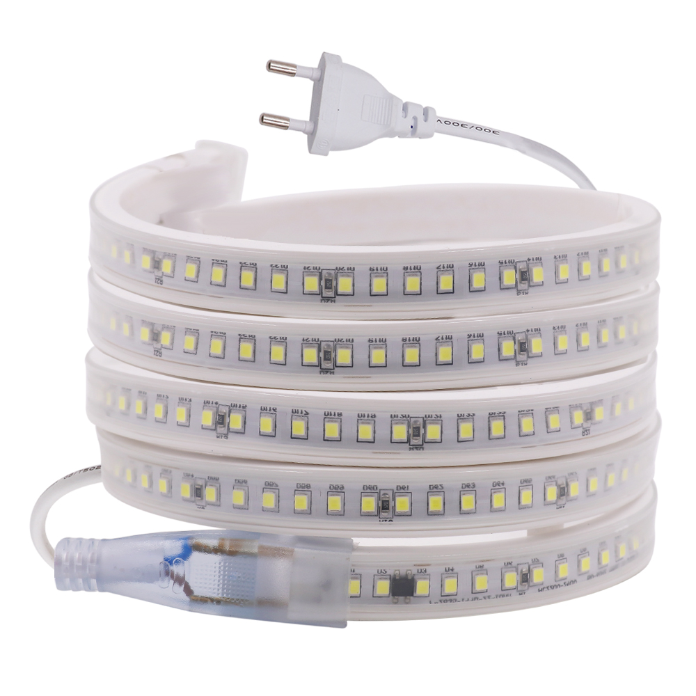 220V LED Strip 2835 144Leds/m High Safety High Stable With IC  Flexible Rope Waterproof LED Strip Light Outdoor Decoration