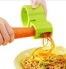 HOT! Multifunction Spiral Vegetable Slicers Double Grater Premium Noodle Cutter Zucchini Pasta Spaghetti Maker Knife Sharpener