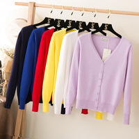 2017 Spring 10 Colors Women S Sweater Round Neck Knitted Sweater Ladies TOPS Knit Cardigan XL