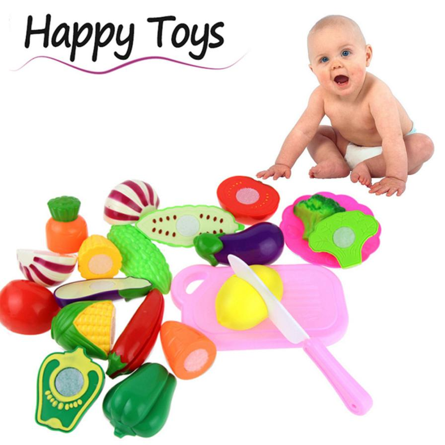 HIINST 13PC Cutting Fruit Vegetable Pretend Play Children Kid Educational Toy H40 Oct09