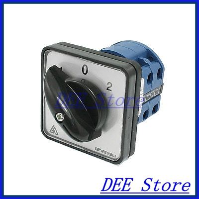 Rotary Selector 3 Positions 8 Screw Changeover Switch 660V 20A ith 20a 8 screw terminals rotary combination cam switch