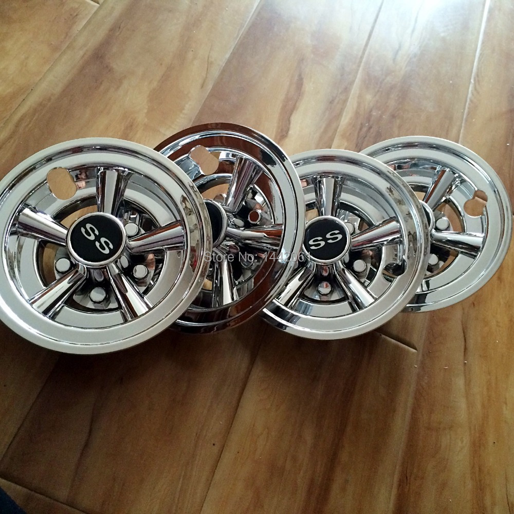 Golf cart 8 inch hub caps wheel covers ss style chrome-in Chromium Styling  from Automobiles   Motorcycles on Aliexpress.com  acd8ceb4d407