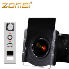 Zomei Профессиональный авиационного алюминия Площадь держатель фильтра с кольцом для объектива камеры 67 72 77 82 86 мм