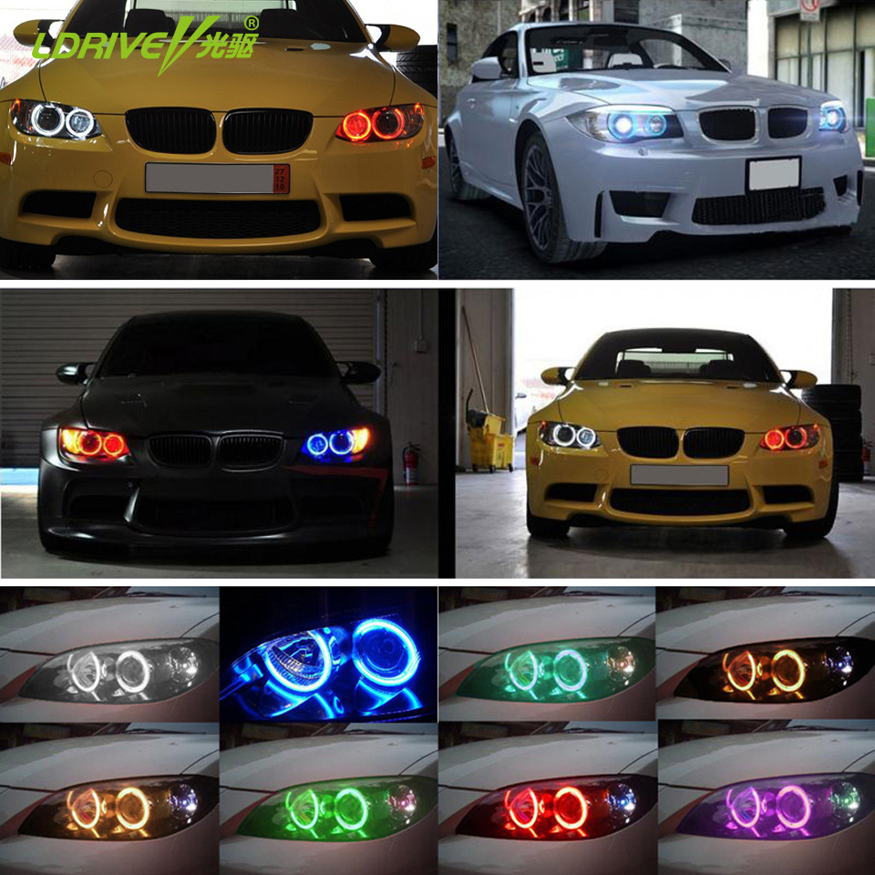 Hot Selling 42 RGB 5050 SMD Angel Eyes Super Bright LED Halo Light Headlights Wireless Remote Kit For BMW E36 E38 E39 E43 E46 cimiva 1pair car 6000k white 5w angel eyes led light lamp for bmw e39 e53 e60 e61 hot selling