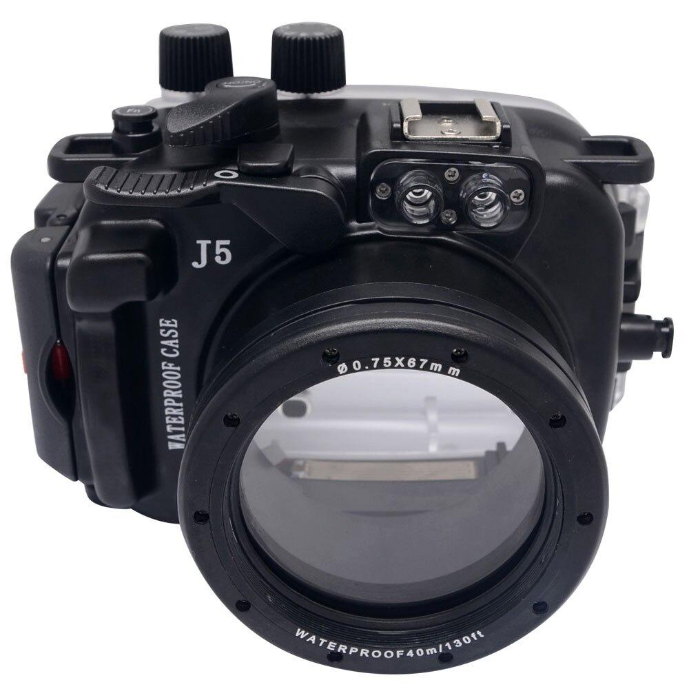 Mcoplus 40M/130ft Waterproof (IPX8) Camera Underwater Housing Waterproof Case Bag For Nikon J5 10 30mm Len