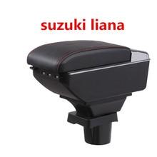 Для suzuki liana подлокотник коробка центральный магазин содержание хранения подлокотник коробка с подстаканником пепельница USB интерфейс