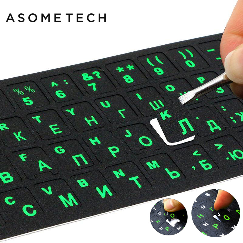 Russian Laptop Keyboard Sticker Waterproof PVC Keypad Sticker For Mac 10-17