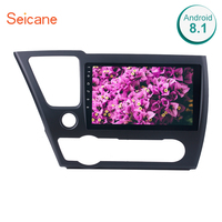 Seicane 2 Din 9 Android 8.1 Car GPS Navigation Radio Multimedia Player For 2014 2015 2016 2017 HONDA CIVIC Support 3G Wifi SWC