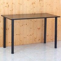 Home office simple computer laptop desk Double Stable writing desk Assembled black/White 120*60*74cm