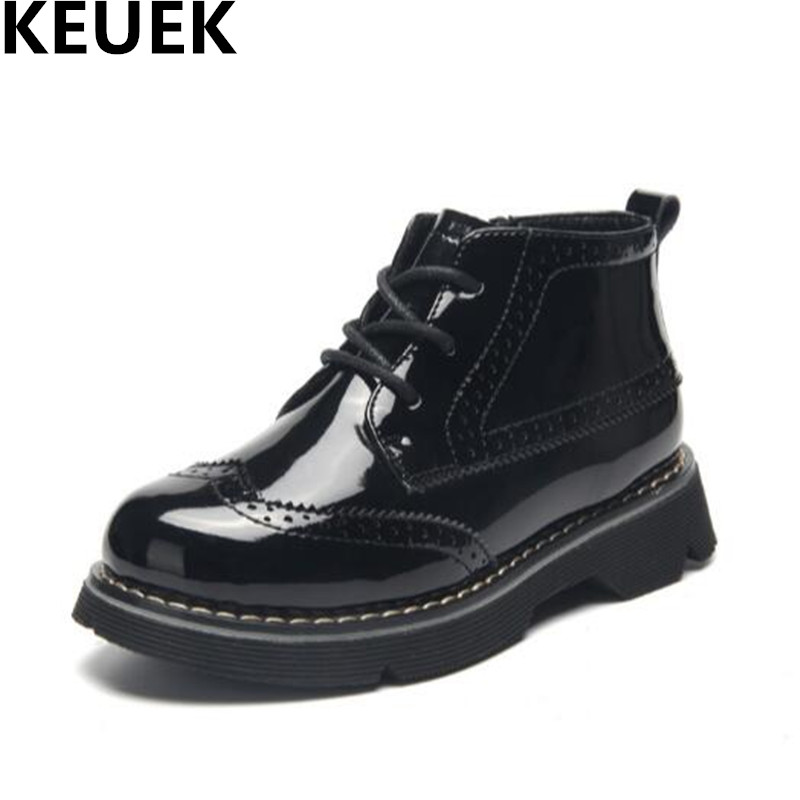 Top Selling PU Leather Ankle Motorcycle Boots Lace-Up Children Warm Snow Boots Boys Girls Martin Boots Kids Shoes Toddler 04 new 2015 botas infantil pu leather boys girls rubber boots for children martin boots kids snow boots sneakers hot item