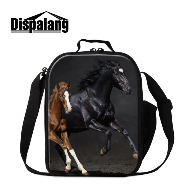 Brown Horse Small lunch Bags for Boys Insulated Lunch Cooler Bags for Girls Coolest Lunch Container Stylish Meal Bags for Men