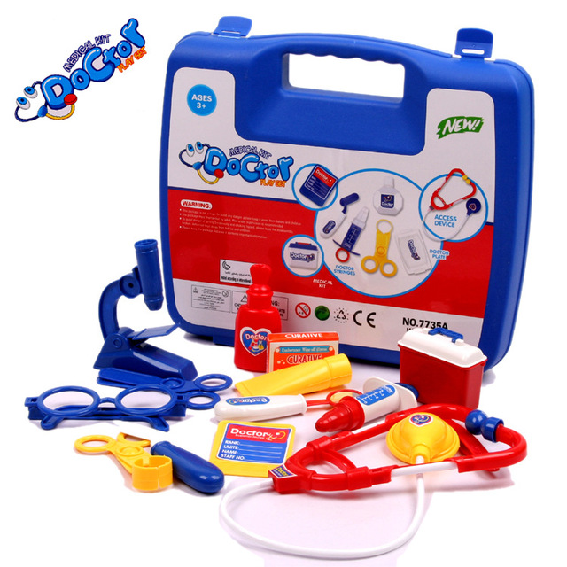14pcs/Set Doctor Box Kids Pretend Play Toys Set For Children Kids Medicine Box Role Play Educational Baby Toys Play House Toys