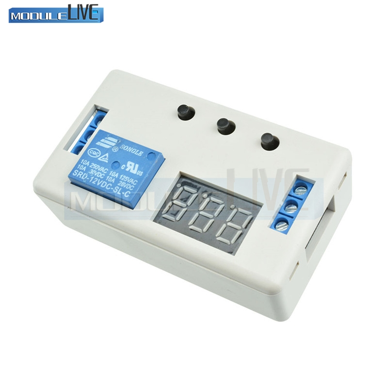 Digital LED Display Time Delay Relay Module Board DC 12V Control Programmable Timer Switch Trigger Cycle Module With Case dc 12v led display digital delay timer control switch module plc automation new