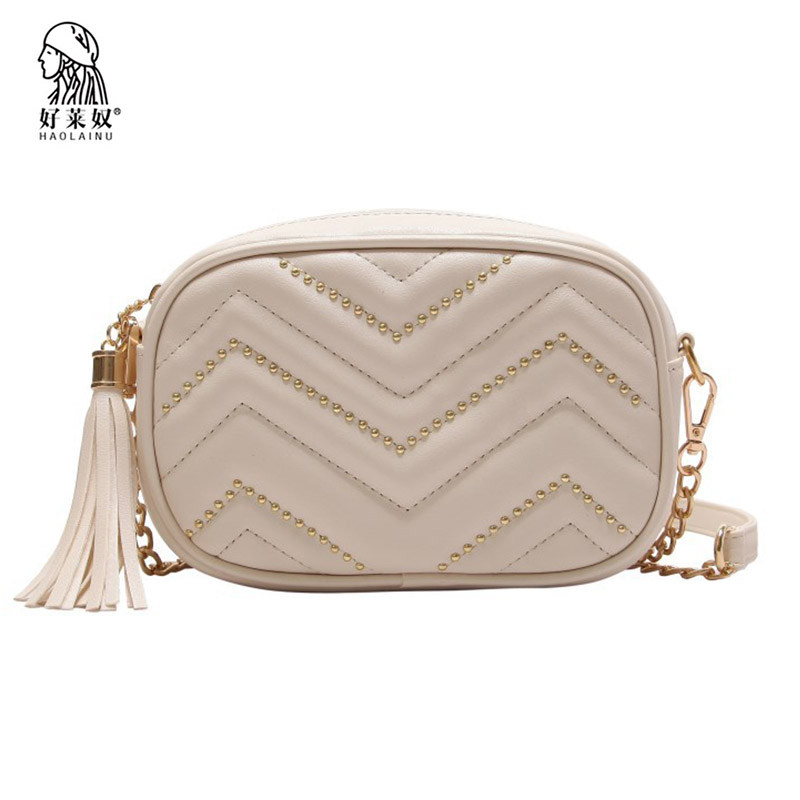 Haolainu Luxury PU Leather Women Waist Bag New Fashion Tassel Waist Packs Brand Female Shoulder Bags Chain Fanny Pack Belt Bags цена