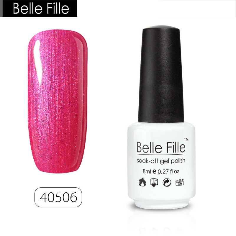 Belle Fille Gel Nail Polish UV Gel Polish Bling French Manicure ...
