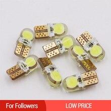 1 PC LED T10 W5W 194 168 หลอดไฟ 12 V สีขาว Auto ที่จอดรถภายในโดมอ่านหลอดไฟเปิด