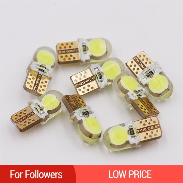 1PC Car LED T10 W5W 194 168 Light Bulb 12V White Auto Parking Lights Interior Dome Reading Lamp Turn