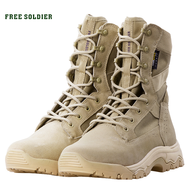 FREE SOLDIER Outdoor sports tactical military boots men's boots army combat light shoes for camping hiking climbing