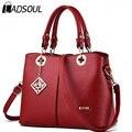 Ladsoul Women Shoulder Satchel Female Bag Women Messenger Bags High Quality Women Leather Handbags Vintage Ladies Bags ls6481/g