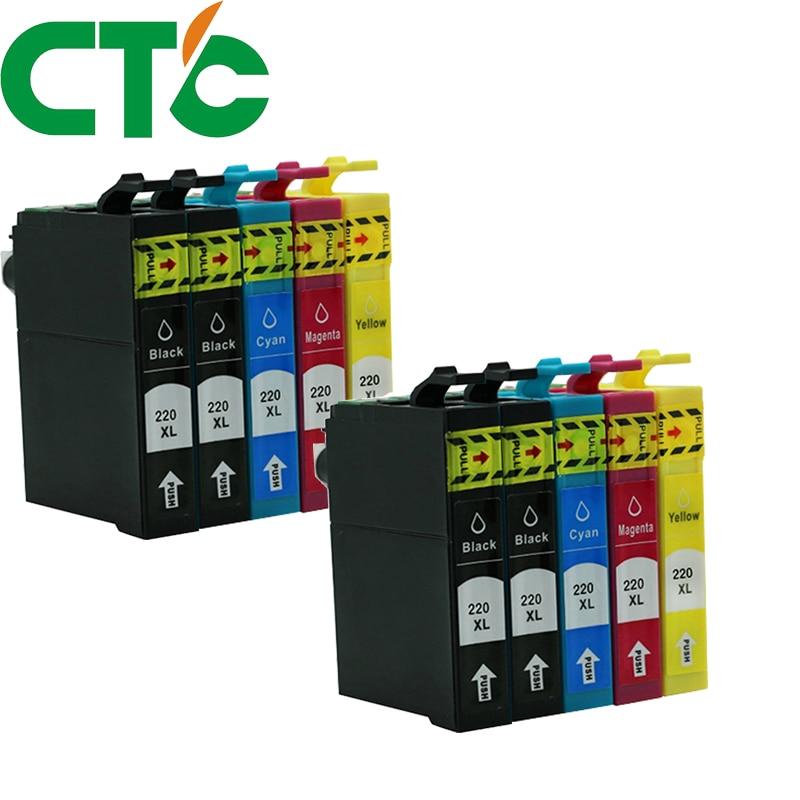 10 Pack T2201 220xl Compatible Ink Cartridge for INK WorkForce WF-2630 WF-2650 WF-2660 WF-2750 WF-2760