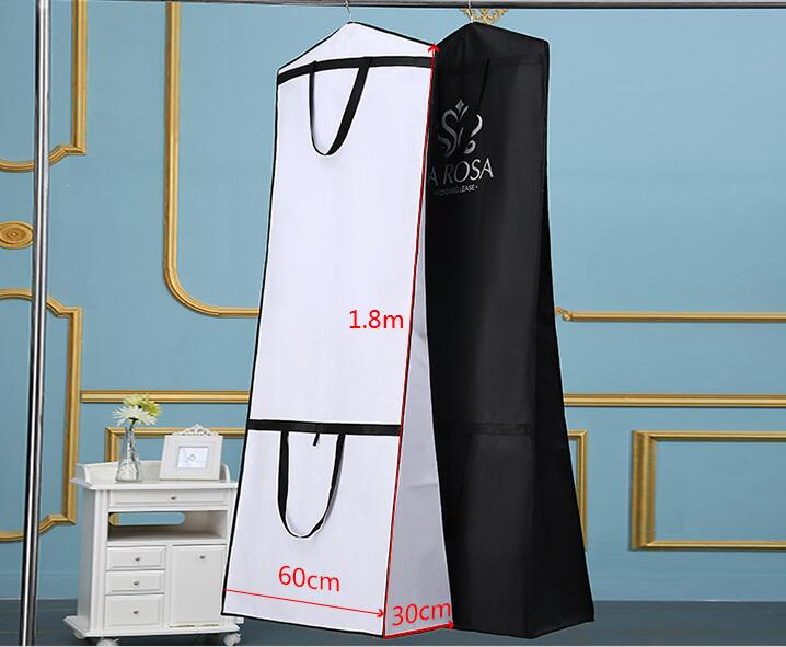 Portable Wedding Dress Protector Cover Foldable Handbag Clothing Covers Bridal Gown Garment Dust Cover
