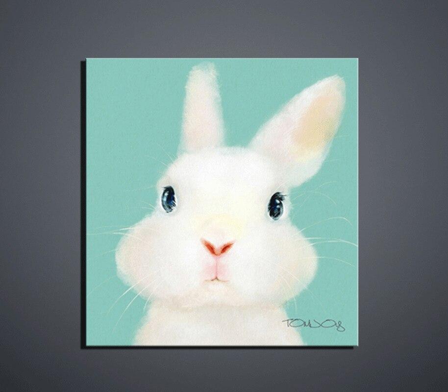 Poster Wall art Leuke cartoon dieren moderne stijl canvas verf door - Huisdecoratie
