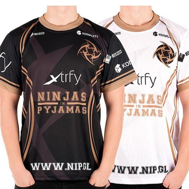 8f9d4ed91 Game Team DOTA 2 Jersey Ninjas in Pyjamas T Shirt CSGO LOL DOTA2 short  sleeve Men