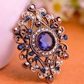 Vintage Turkish Jewelry Colares Resin Flower Brooch Pin Fine Women Christmas Hijab Accessories Antique gold Plated Pin Broches