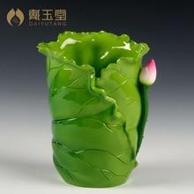 Dai Yutang ceramic creative ornaments craft pen leaves inserted incense tube religious supplies D14-014 наклейки dai