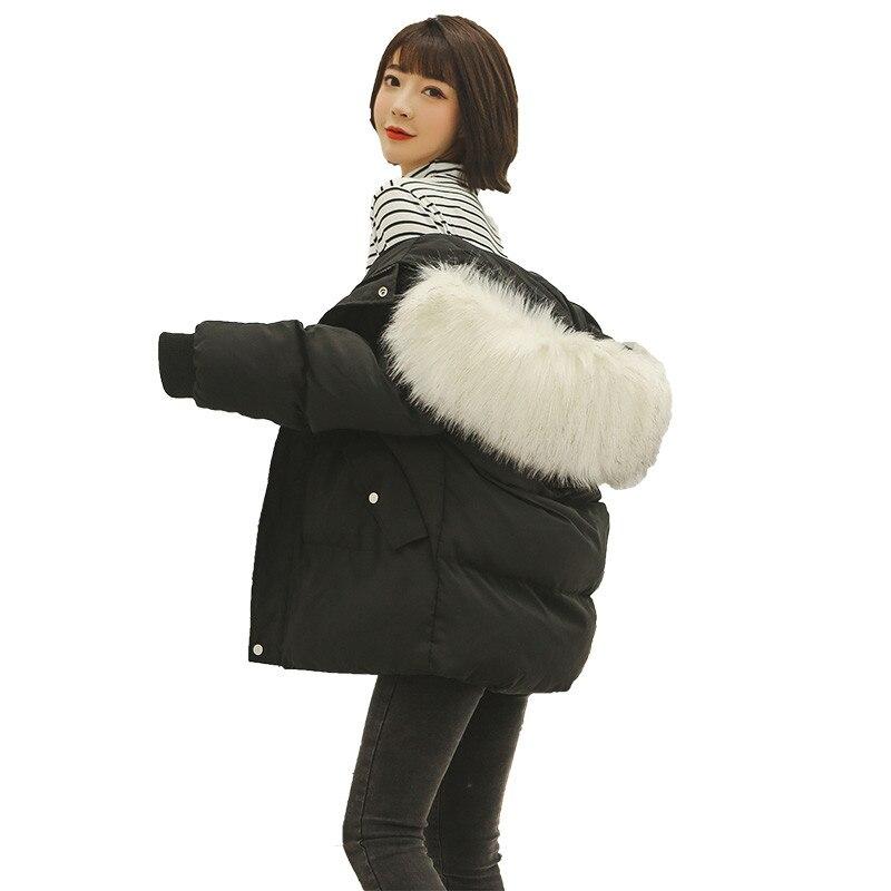 2019 New Autumn winter Women   parka   Hooded Outwear Coat Jacket zipper pocket Solid Long sleeve Thick warm Fashion Cotton C24