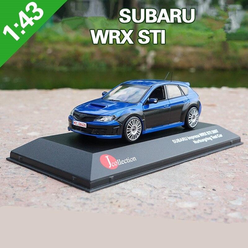 Échelle 1:43 alliage modèle de voiture jouets, haute imitation J-COLLECTION SUBARU IMPREZA WRX ST1, collection jouet véhicules, livraison gratuite
