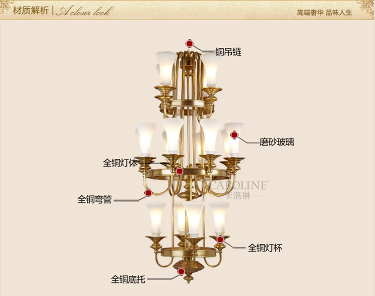 large glass lampshade gold brass chandelier led lampara for church - Indoor Lighting - Photo 6