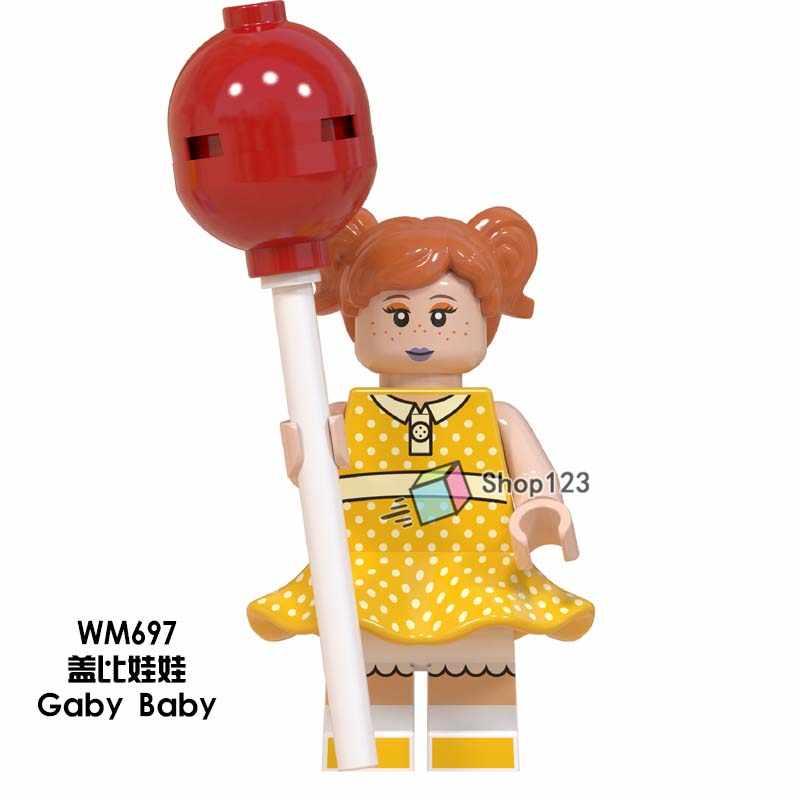 WM697 Toys Story 4 Gaby Baby Girls Dolls Lotso Buzz Lightyear Woody Jessie Alien Ducky Bo Peep Building Blocks Gifts Toys Kids