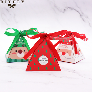 10 PCS/Set Merry Christmas Candy Box Bag 1