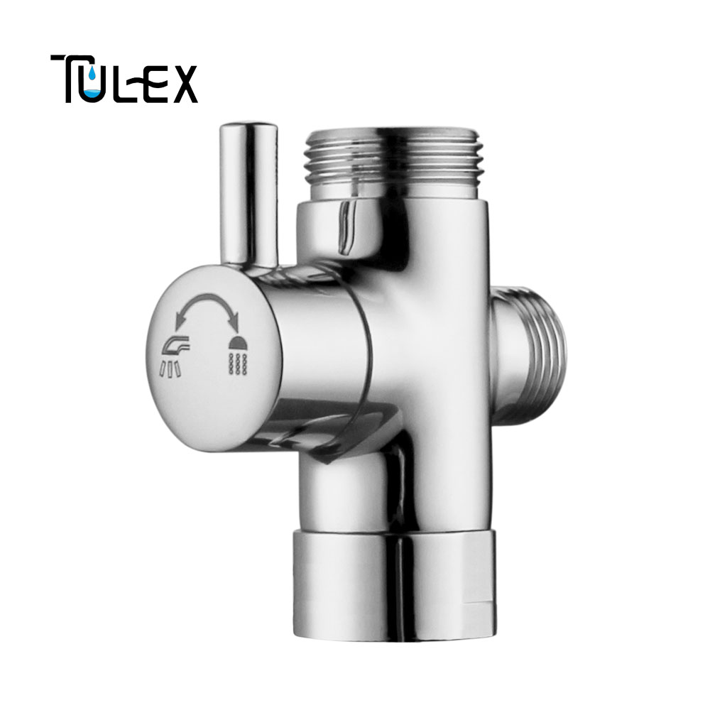2 Way Shower Diverter Valve.Us 14 36 15 Off Tulex Faucet Shower Diverter 3 Way Shower Arm Diverter 2 Functions Shower Faucet Valve For Shower Mixer Brass Body Chrome Plated In