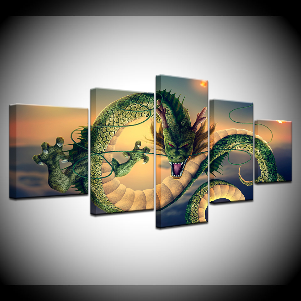 Canvas Poster Living Room Wall Art 5 Pieces Dragon Ball