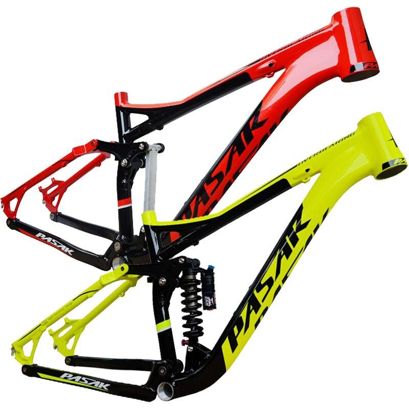 Cadre en Aluminium à Suspension complète Pasak en alliage vtt montagne DH AM cadre de vélo 26/27. 5er * 17 pouces partie de vélo de descente