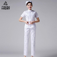 2018 Summer Nurse Uniform Women Hospital Medical Scrub Clothes Set Hospital Beauty Salon Spa Workwear Clothes High Quality
