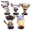 Anime One Piece Tony Tony Chopper Cosplay Luffy Law Edward Newgate Sabo Ace Buggy PVC Figures Collectible Model Toys 5pcs/set
